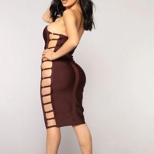 Burgandy fashion nova dress